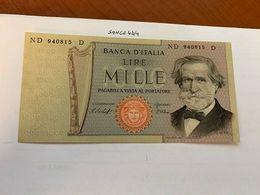 Italy Verdi 1000 Lire Uncirc. Banknote 1980  #5 - 1000 Lire
