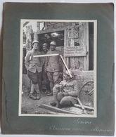 1916 Somme Infirmiers Marsouins Zouave Cantine Allemande Récupération Bouteilles Métaux  Poilus Tranchée Ww1 14-18 Photo - Guerre, Militaire
