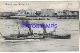 135832 GERMANY NORDSEEBAD NORDERNEY VIEW SHIP POSTAL POSTCARD - Allemagne