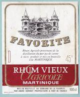 Etiquette Rhum Vieux Agricole FAVORITE Martinique - Rhum