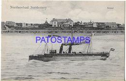 135834 GERMANY NORDSEEBAD NORDERNEY VIEW SHIP POSTAL POSTCARD - Allemagne