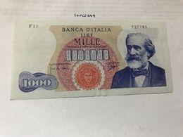 Italy Verdi 1000 Lire Uncirc. Banknote 1965  #1 - 1000 Lire
