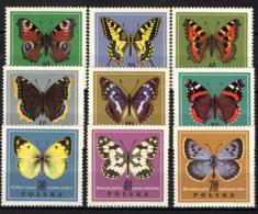 POLONIA - 1967 - SERIE FARFALLE - BUTTERFLIES - MNH - 1944-.... Repubblica