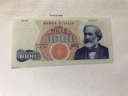 Italy Verdi 1000 Lire Uncirc. Banknote 1965  #2 - 1000 Lire