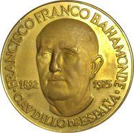 ESPAÑA. FRANCISCO FRANCO. MEDALLA PACI IMPOSVIT MORES. BRONCE DORADO. ESPAGNE. SPAIN MEDAL - Monarchia/ Nobiltà
