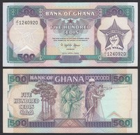 Ghana 500 Cedis Banknote 1989 Pick 28b XF (2)  (25199 - Bankbiljetten