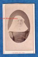 Photo Ancienne CDV - GAND Belgique - Portrait D'une Soeur / Religieuse Belge - Photographe L. De Laetre - Fille Femme - Oud (voor 1900)