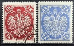 BOSNIA HERCEGOVINA 1900/01 - MLH/canceled - ANK 21, 22 - 1K 2K - Bosnie-Herzegovine