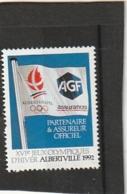 AGF - Partenaire Officiel Et Assureur Des Jeux Olympiques D'ALBERVILLE -- Neuf ** - Commemorative Labels