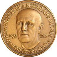 ESPAÑA. FRANCISCO FRANCO. MEDALLA PACI IMPOSVIT MORES. COBRE. ESPAGNE. SPAIN MEDAL - Monarchia/ Nobiltà