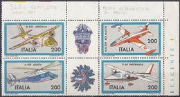 ITALIA - 1981 - Serie Completa Nuova MNH In Quanrtina Con Due Vignette In Angolo Di Foglio: Yvert 1522/1555. - 1981-90:  Nuovi