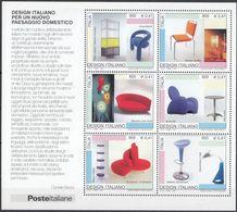 ITALIA - 2001 - Foglietto Nuovo MNH Yvert BF31, Design Italiano Per Un Nuovo Paesaggio Domestico. - Blocchi & Foglietti