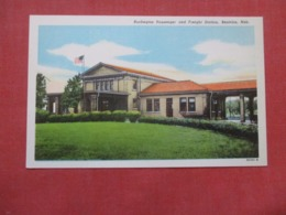 Burlington Passenger & Freight Station Beatrice Nebraska   Ref 4164 - Autres