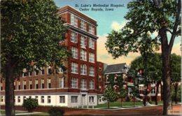 Iowa Cedar Rapids St Luke's Methodist Hospital 1955 Curteich - Cedar Rapids