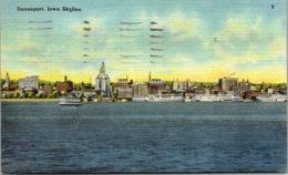Iowa Davenport Skyline 1946 - Davenport