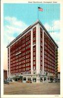 Iowa Davenport Hotel Blackhawk 1939 Curteich - Davenport