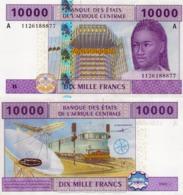 CENTRAL AFRICAN STATE, GABON, 10000 FRANCS, 2002, P410Ac, UNC - Gabon