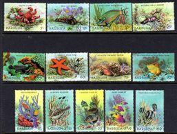 BARBUDA - 1987 MARINE LIFE FISH CRABS SET COMPLETE (13V) FINE MNH ** SG 960-072 - Antigua And Barbuda (1981-...)