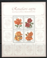 South Africa 1979 World Rose Convention, Flowers MS MUH - África Del Sur (1961-...)