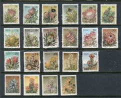 South Africa 1977 Flowers Perf 14 + Coils MUH - África Del Sur (1961-...)