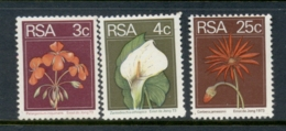South Africa 1974 Flowers 3,4,25c MUH - África Del Sur (1961-...)