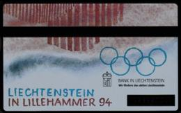 Liechtenstein PTT P-Taxcard Liechtenstein In Lillerhammer 94 Olympic Games   (DD5-48) - Jeux Olympiques