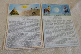LOT DE 2 ILLUSTRATIONS ..ASTROLOGIE HINDOUE ...LE DHAMUS ET LE KANYA - Astrology