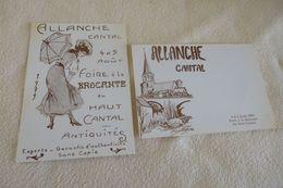 LOT DE 2 ILLUSTRATIONS...FOIRE A LA BROCANTE ALLANCHE ..CANTAL 1979..(500ex) - Sammlerbörsen & Sammlerausstellungen