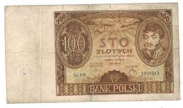 Poland , 100 Zlot. 1932, VG. - Pologne