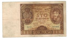 Poland , 100 Zlot. 1932,  F/VF. - Pologne