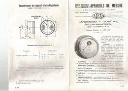 AMPEREMETRES , VOLTMETRES - Alte Papiere
