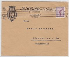 Deutsches Reich 1921 Brief Der Fa. F.B.Eulitz Leipzig Mit EF - Covers & Documents