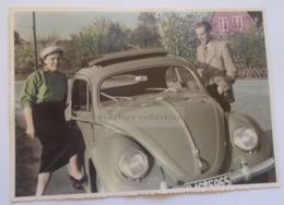 ZA282.1 Old Photo  VW Beetle -  1954- Nach Dersau (Schleswig-Holstein) - Automobili