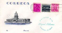 39045 Cuba 1956 4c Miguel Aldama FDC Lily Cachet - FDC