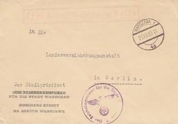 GG: Frei Durch Ablösung Reich, Stadtpräsident Warschau Nach Berlin, Kurze Zeit - Besetzungen 1938-45