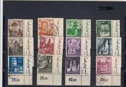GG Generalgouvernement MiNr. 40-51, Gestempelt, Eckrand, Entwerfer - Occupazione 1938 – 45