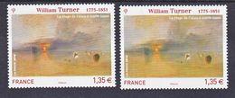 France 4438  Tableau De Turner Variété Verdâtre Et Violacé Neuf TB ** MNH Sin Charnela - Errors & Oddities