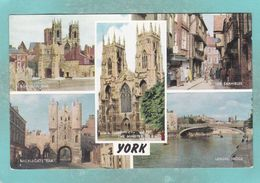Small Multi View Postcard Of York,Yorkshire,England,.K98. - York