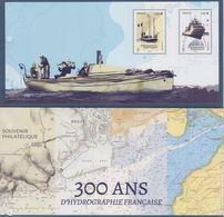 300 Ans D'hydrographie Française Souvenir Philatélique Neuf 2020 Bloc Souvenir 2 Timbres à 1.40€ Bateaux De Recherches - Blocs Souvenir