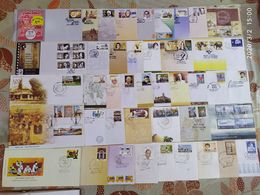 India 2011 Year Pack Of 43 FDCs On Cinema Elephant Tiger Tagore Ship Health Air Mail Children's Day - Inde