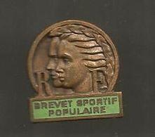 Insigne Boutonnière, BREVET SPORTIF POPULAIRE  , 2 Scans - Sport
