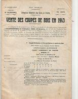 Vente De Bois Foret De Nieppe-normal-st Amand-de L'abbé-trélon-d'anor-d'ohain  Etc.. - Factures