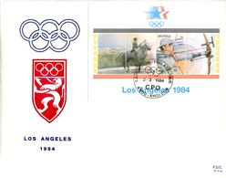 14184016 Be 19840303 Angleur; JO Los Angeles; Fdc Cob Bf60 - 1981-90