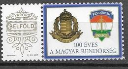 HUNGARY, 2020, MNH, POLICE, 1v PERSONALIZED STAMP WITH TAB - Police - Gendarmerie