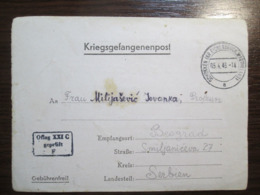 WW2 1943 German POW Camp Card Kriegsgefangenenpost Oflag XXI-C Schildberg, Ostrzeszow / Poland - War 1939-45