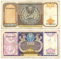 2 Billet Uzbekistan 100 Et 50 Cym 1994 Ouzbekistan - Usbekistan
