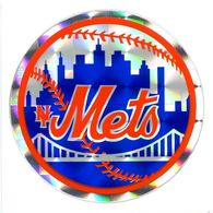 Ancien Autocollant Réflecteur MLB Baseball New York Mets Sport Kodak 1980/90 - Panini