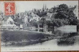 50 Manche CPA St Saint Lo  Vue Sur La Ville  Prise Des Bords De La Vire 1911 - Saint Lo