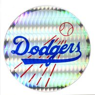 Ancien Autocollant Réflecteur MLB Baseball Los Angeles Dodgers Sport Kodak 1980 - Panini