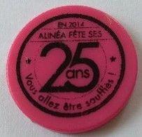 Jeton De Caddie - Alinéa - Alinéa Fête Ses 25 Ans - Vous Allez être Soufflés ! - En Plastique - Rose - - Jetons De Caddies